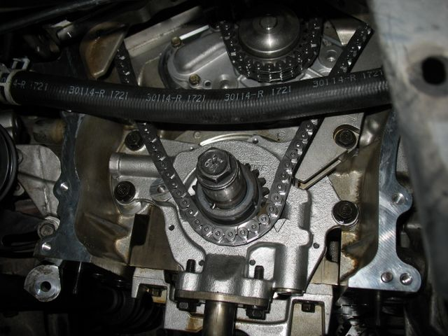 Install New Chrysler 27 Timing Chain. Route The Chain Around Crankshaft Sprocket And Align So That Following Arrow On Oil Pump Marking Plate Groove. Chrysler. Chrysler 300 2 7 Serpentine Belt Diagram At Guidetoessay.com